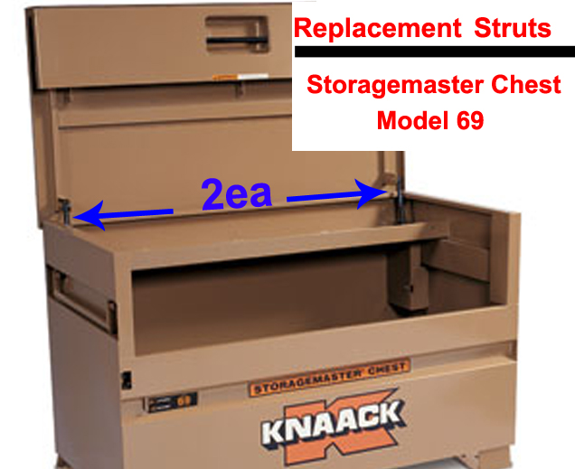 set rep knaack storage master chest 69 tool job jo box gas spring lid support rod arm
