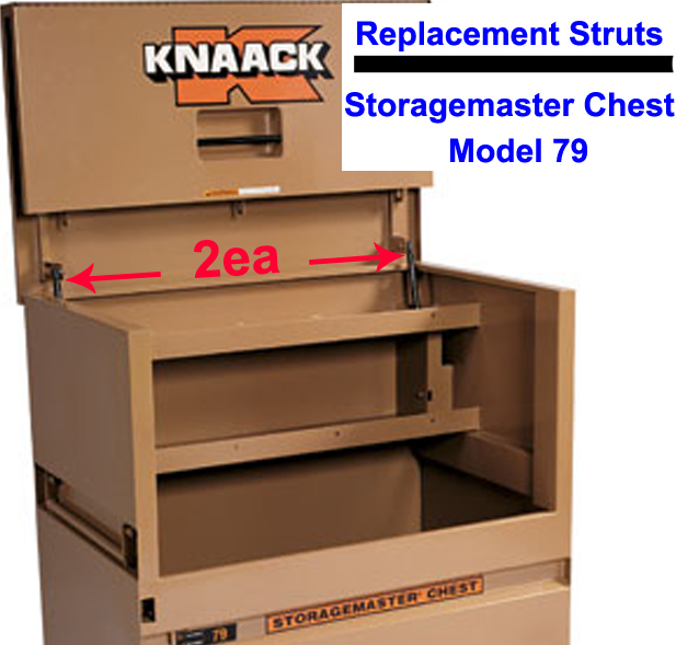 Buy 2ea mid columbia strut spring lid prop lift arm rep knaack storagemaster chest mod 79 at AtomicMall.com