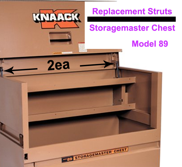 Buy set rep knaack storage master 89 tool job jo box gas spring lid lift support rod arm at AtomicMall.com