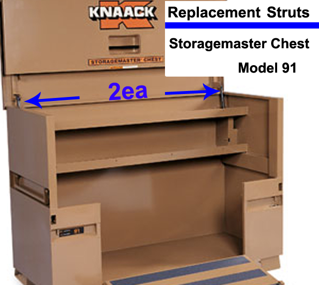 Buy 2ea nitro prop strut spring lid ram lift support arm rep knaack storagemaster chest m at AtomicMall.com