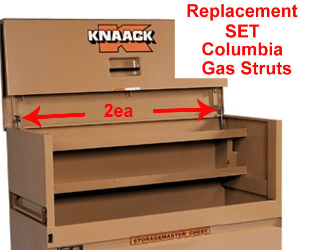 2ea Columbia Gas Strut Lift Rod Replacement Knaack Storagemaster 90 Spring 977 2PK