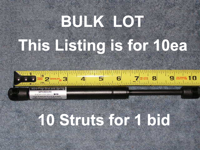 10& 34 60 LB Wholesale lot 10ea Winnebago RV gas strut shock spring cargo door lift